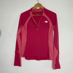 Euc The north face pink pullover m